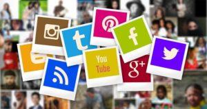 montage des logos de reseaux sociaux sous forme de photo