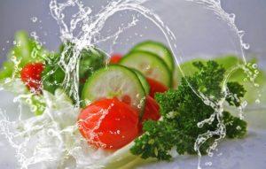 Salade, concombre et tomate