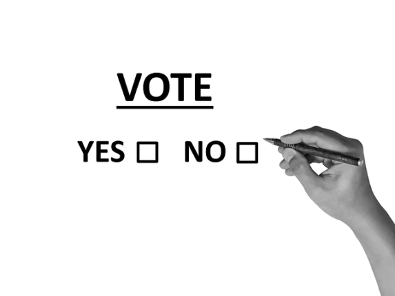 Cases a cocher sur bulletin de vote