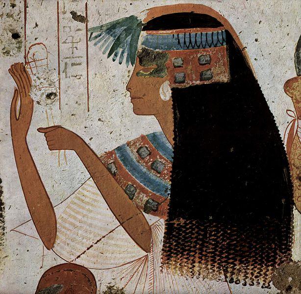 La coiffure du temps de l'Egypte ancienne