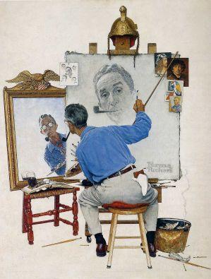 Le triple autoportrait de Norman Rockwell